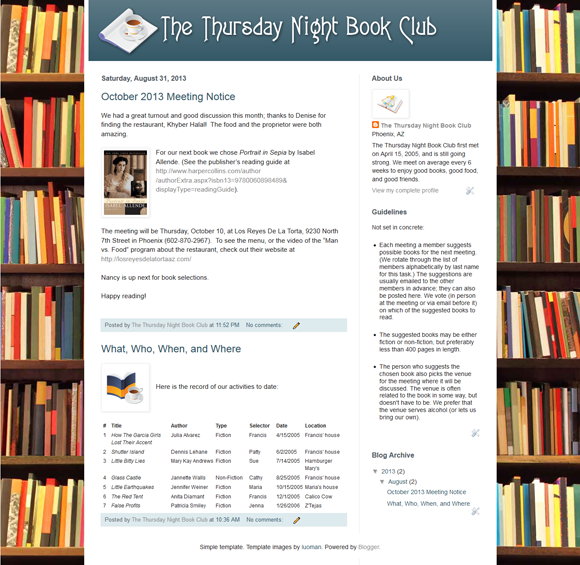 Thursday Night Book Club