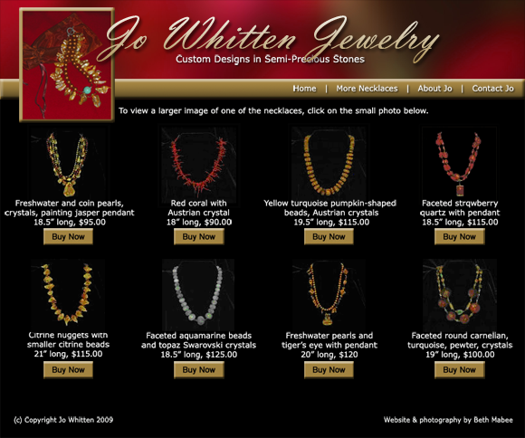 Jo Whitten Jewelry's home page